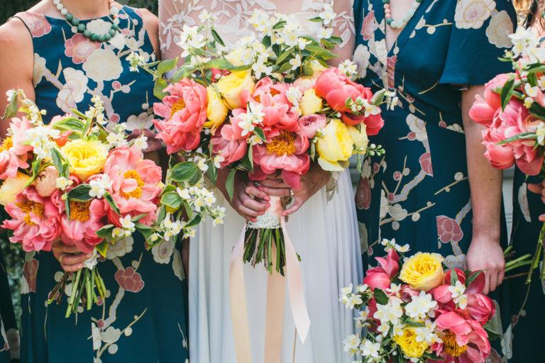 bright color bouquets