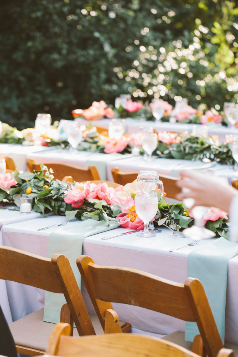 outdoor floral tables