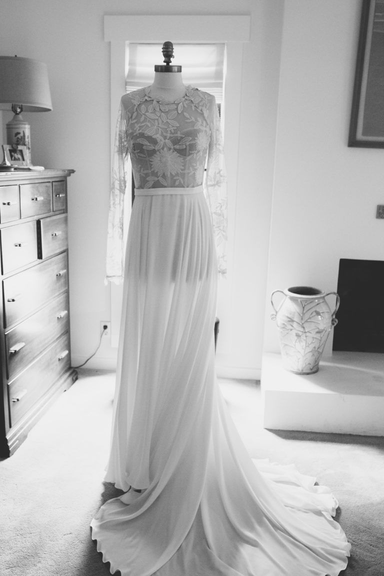 bridal gown on mannequin