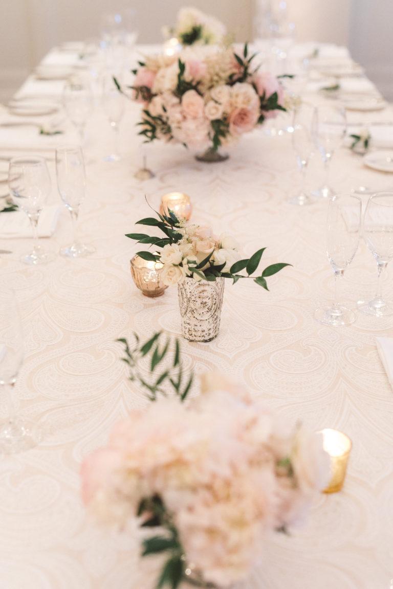 pink floral arrangements