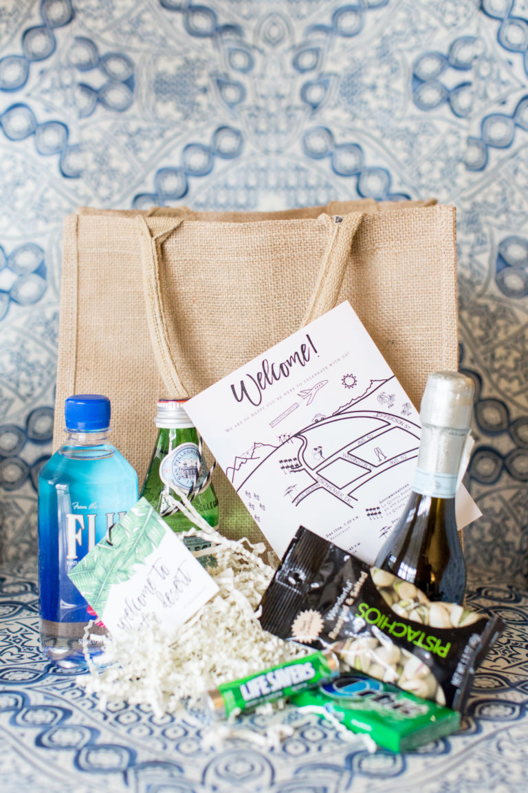 welcome bag for guests