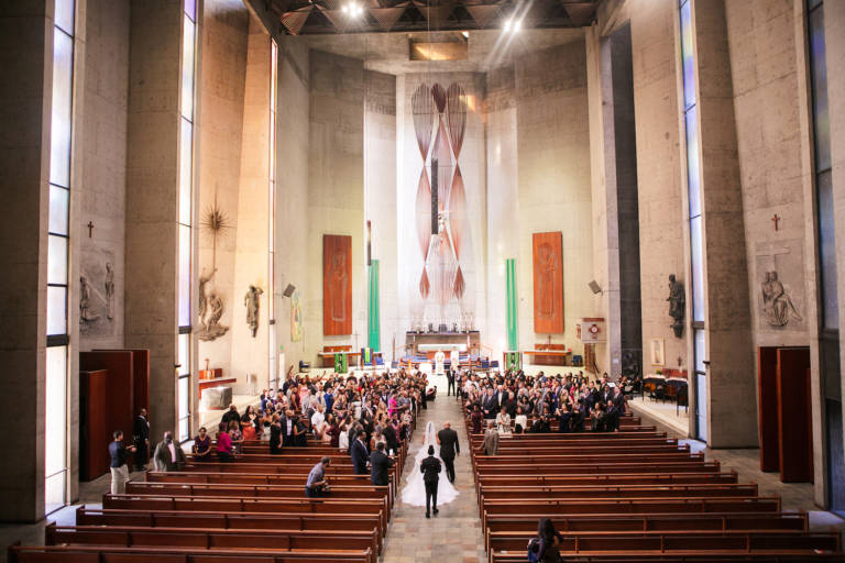 downtown la cathedral wedding