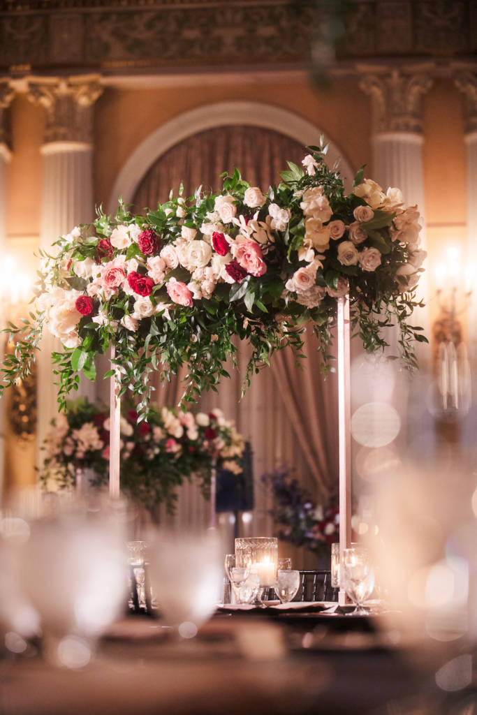 high table floral arrangements