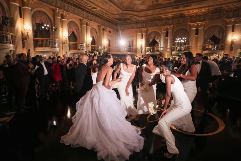 biltmore wedding guests dancing