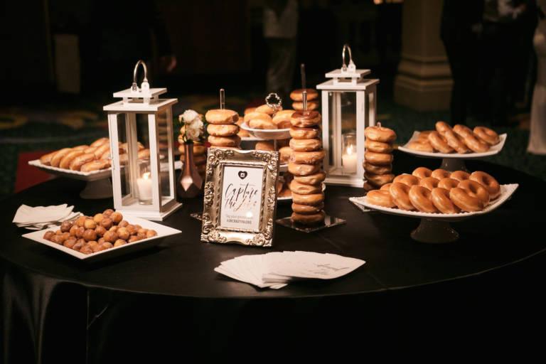 donut bar at wedding