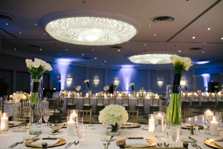ballroom wedding reception