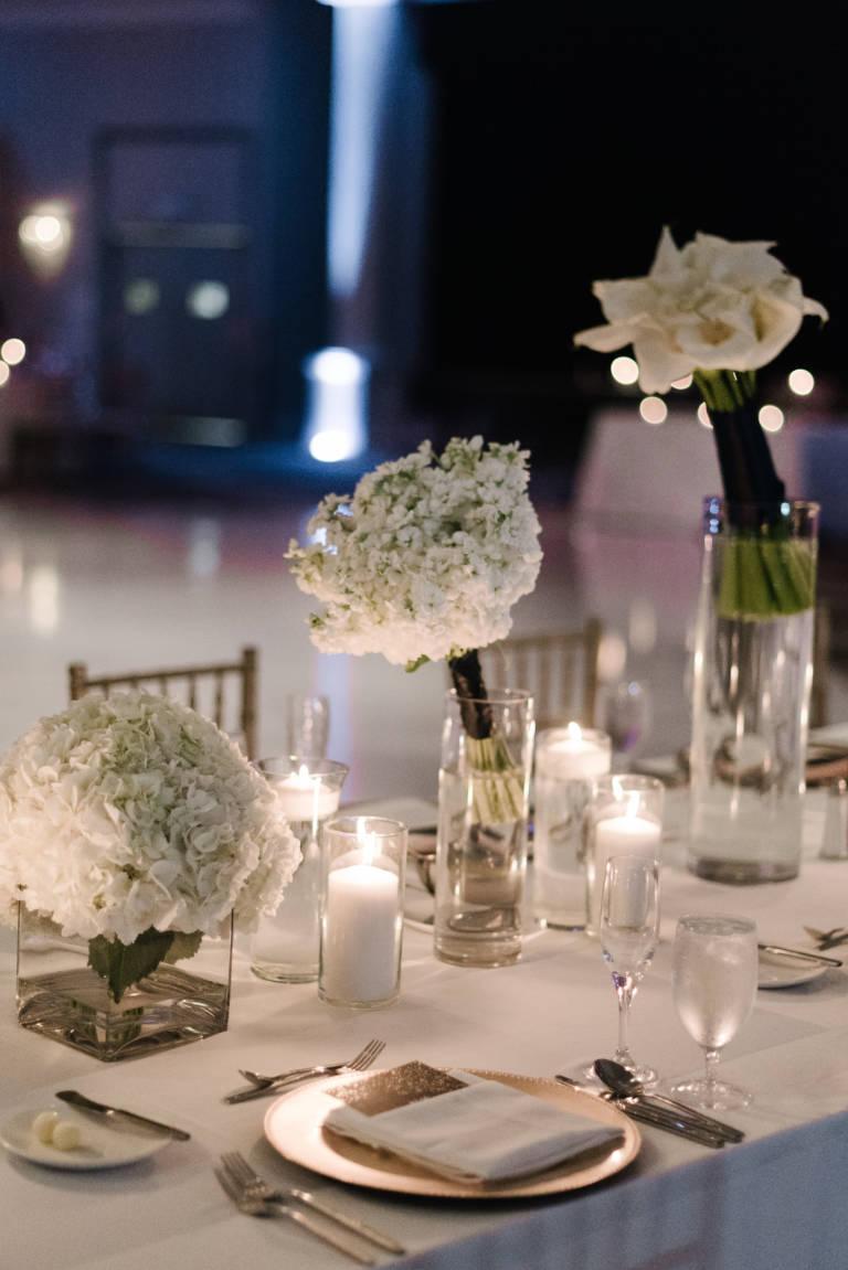 candlelight wedding table