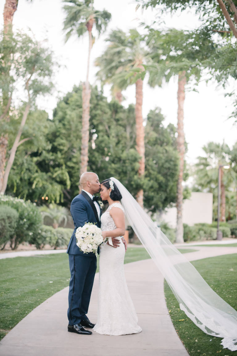 bride and groom riviera palm springs