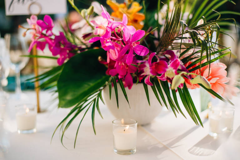 tropical wedding florals