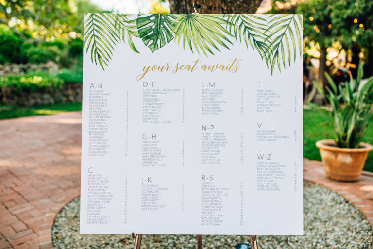 tropical seating chart