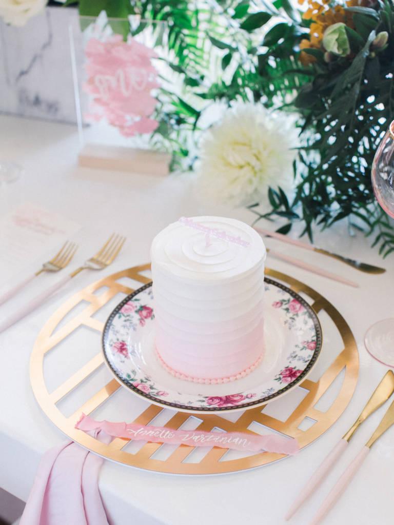 mini cake at tea party
