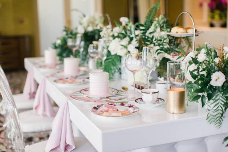 tea party setup