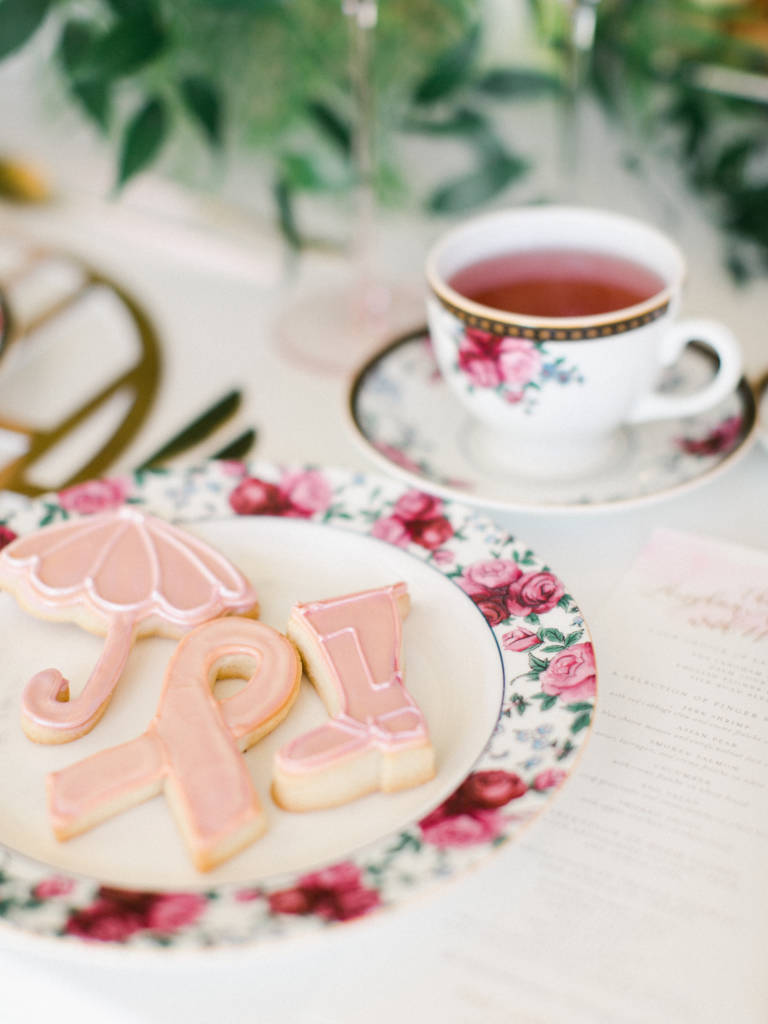tea party with cookies
