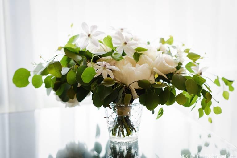 simple white floral arrangement