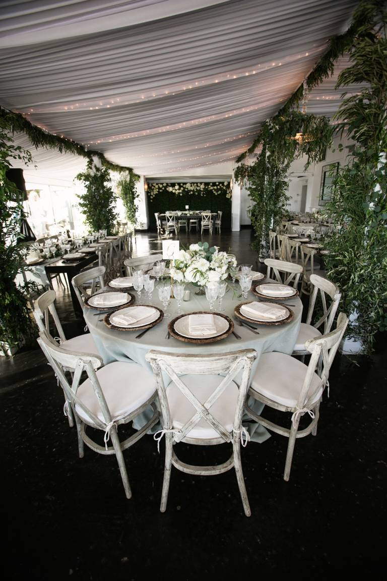 tented wedding reception setup