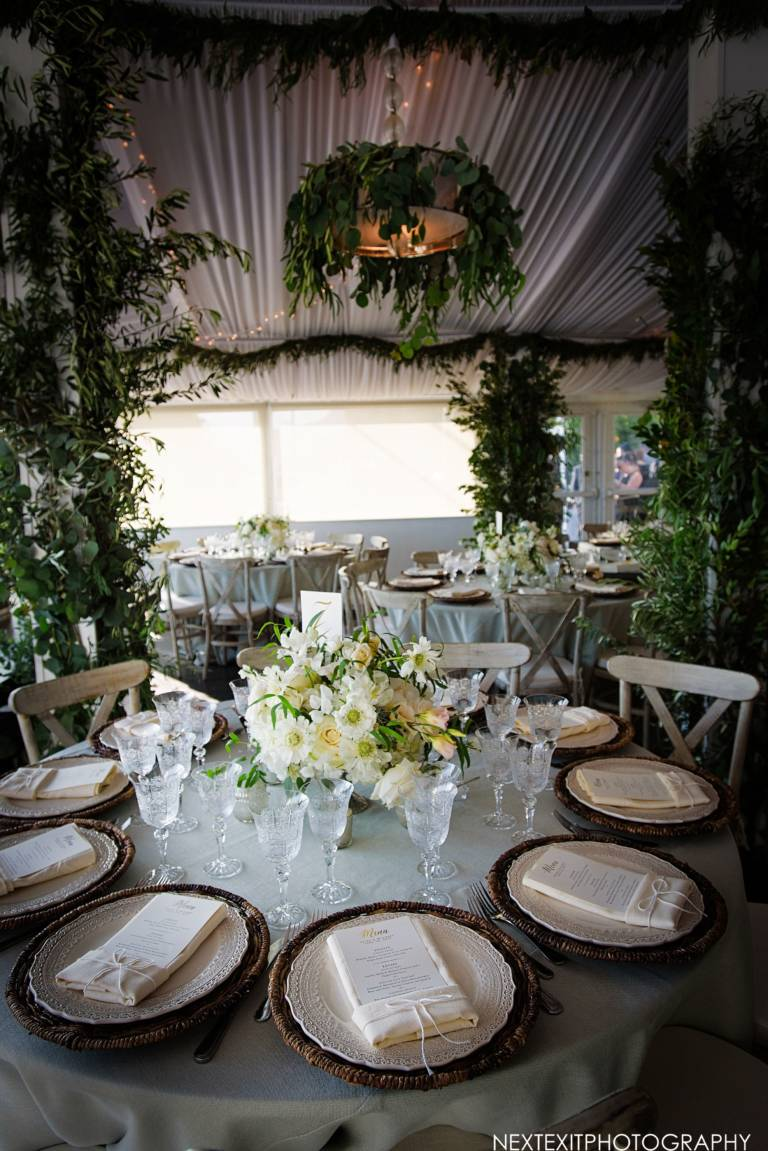 tables for tented reception