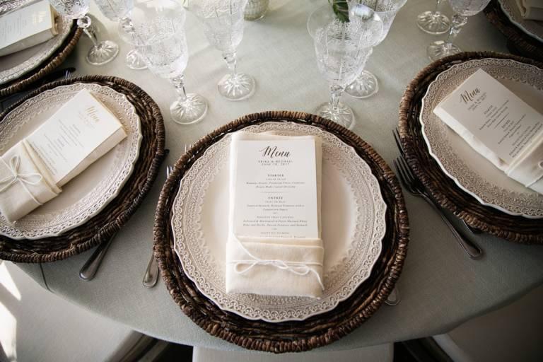 rustic elegant wedding table