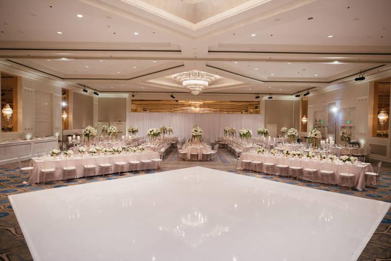 hotel ballroom wedding reception