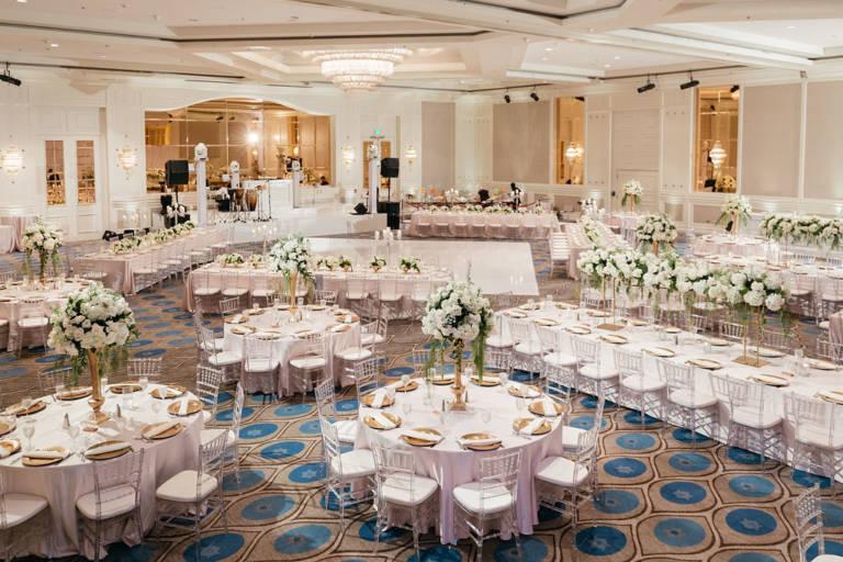 sheraton la ballroom wedding reception