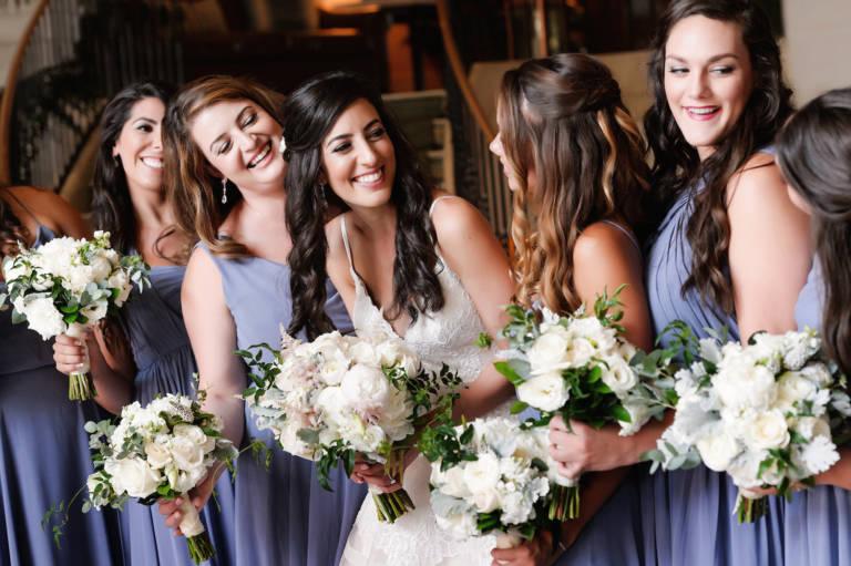 bridesmaids in lavender