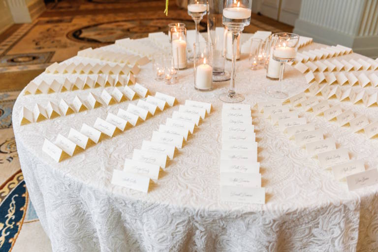 traditional wedding placecards