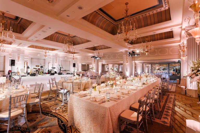 casa del mar wedding reception setup