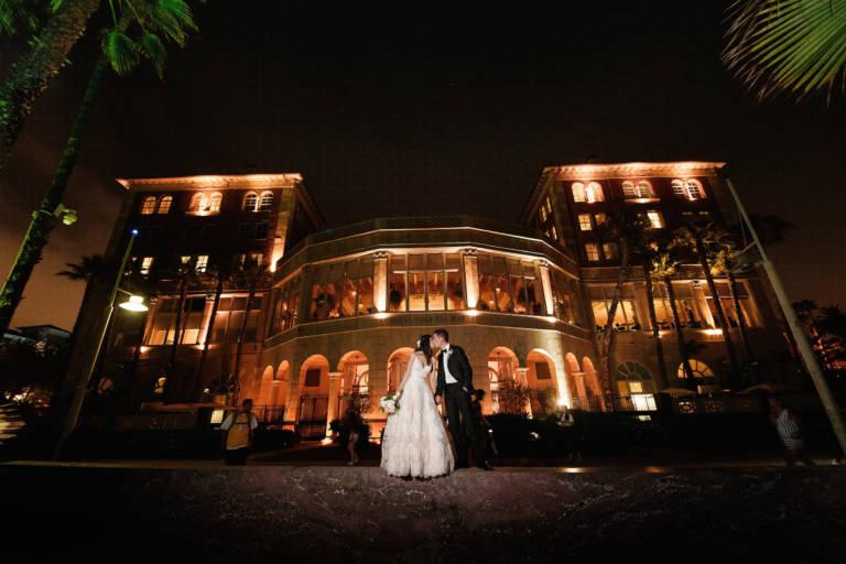 casa del mar bride and groom