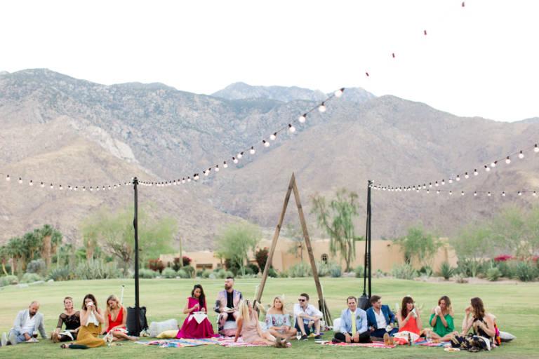 desert wedding setup