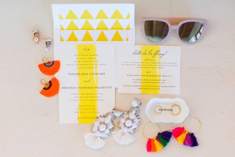 desert wedding invitation suite