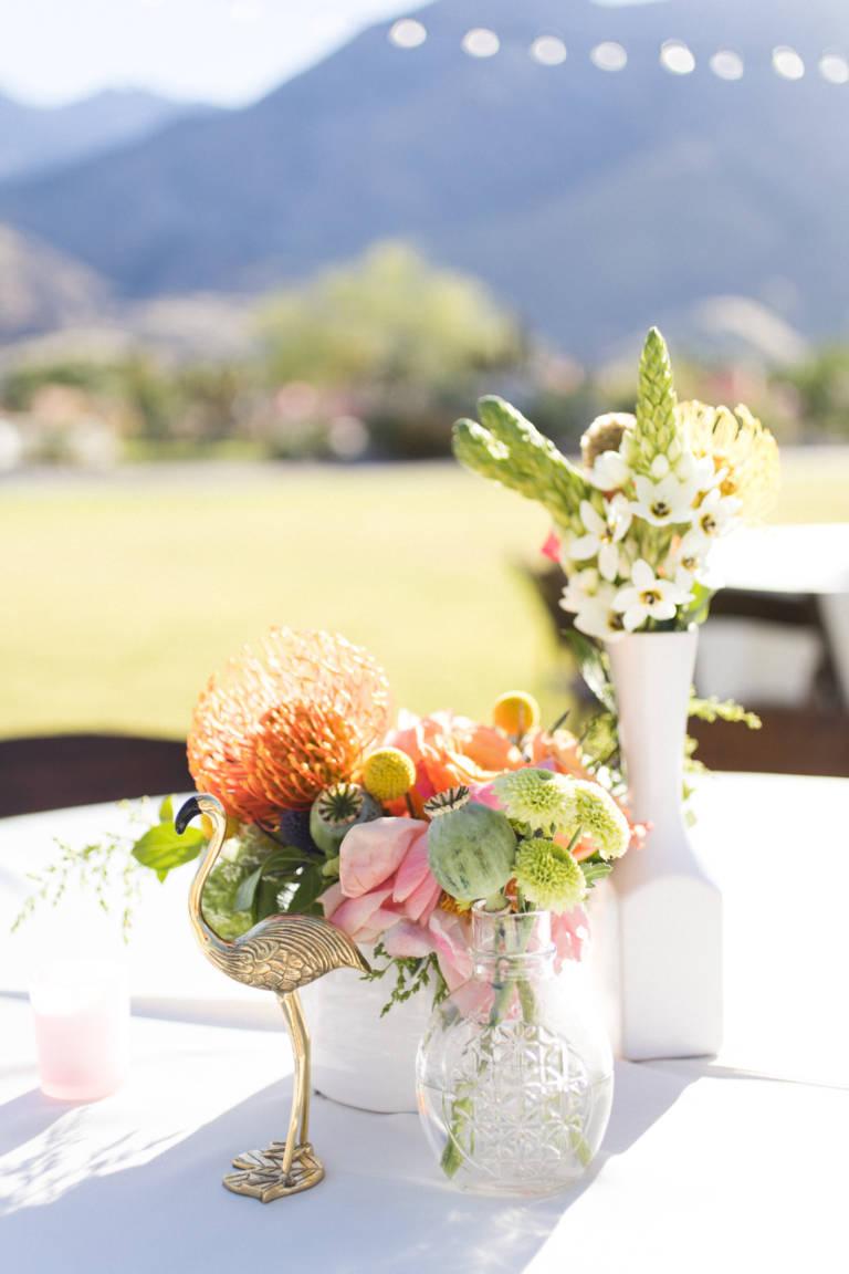 desert wedding florals
