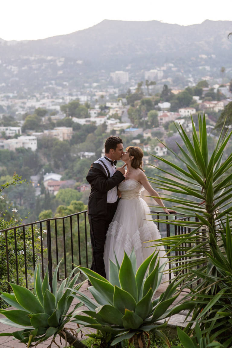 wedding with view