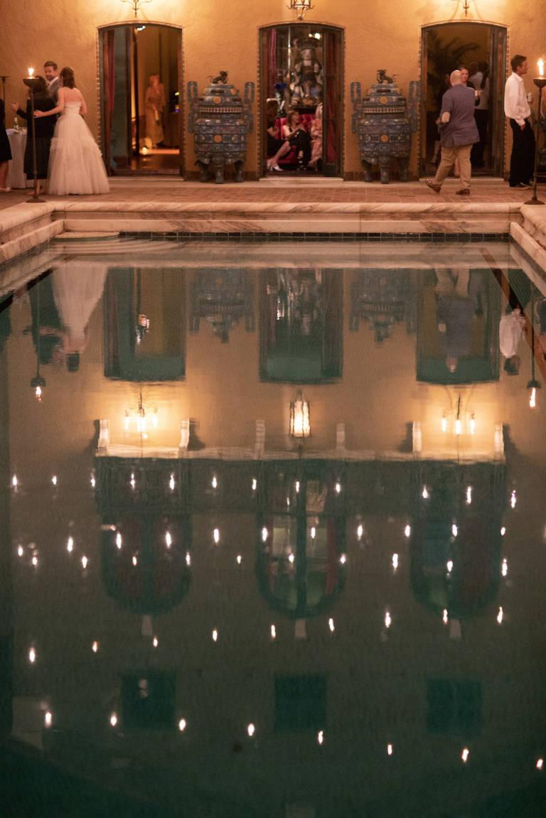 paramour estate pool at wedding