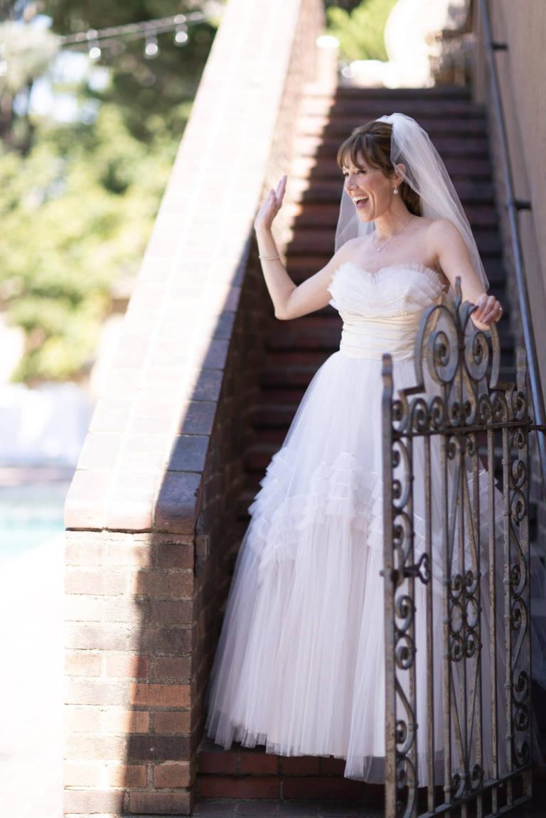 bride waving