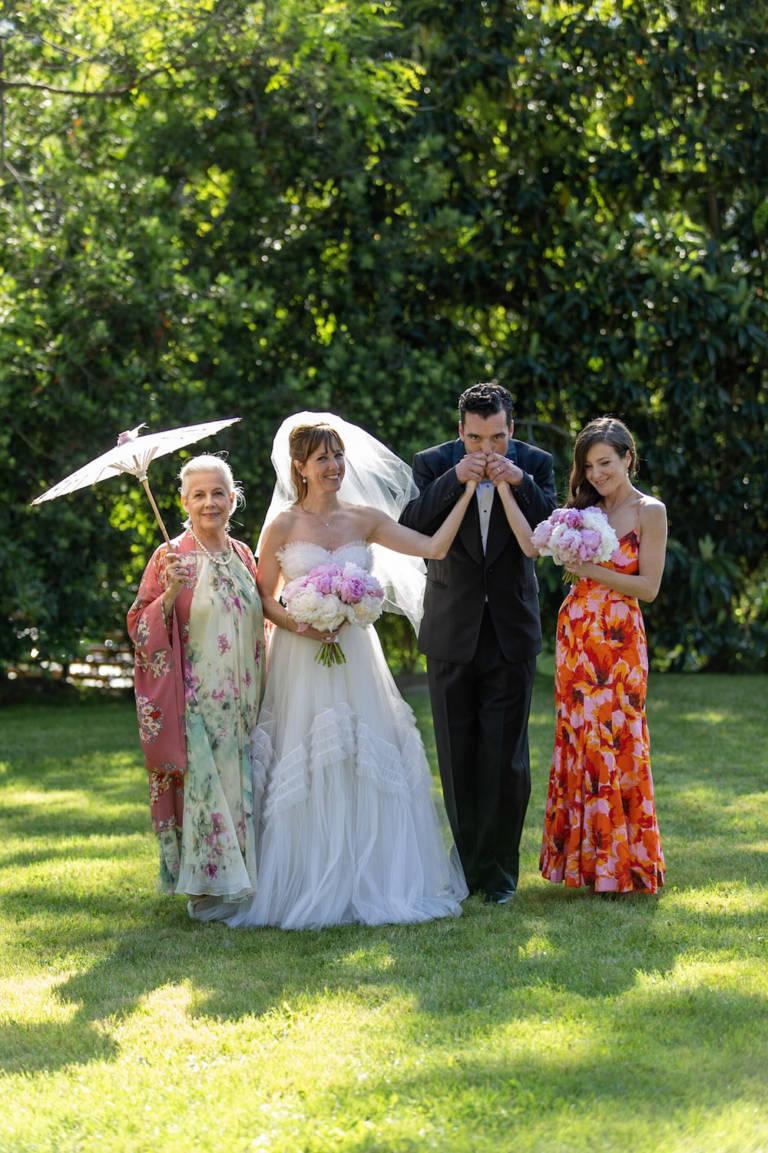 wedding couple family