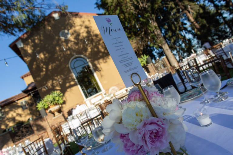 paramour estate wedding table