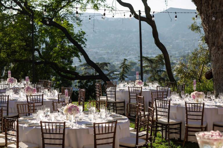 paramour estate outdoor wedding reception