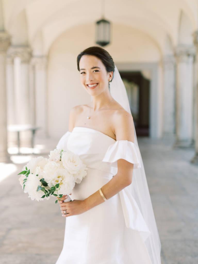 bride poses