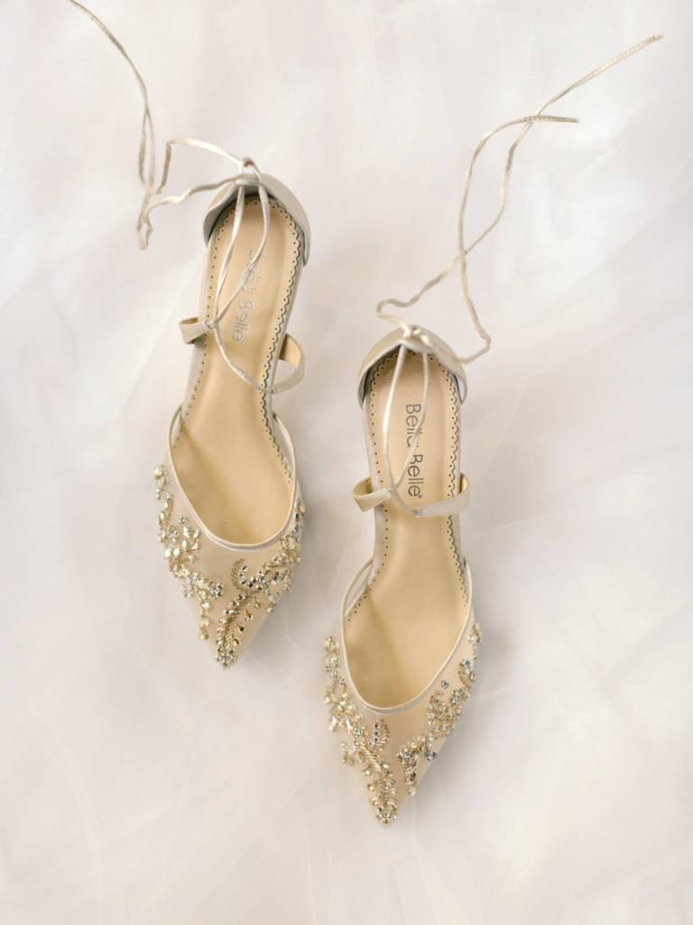 sheer bridal shoes