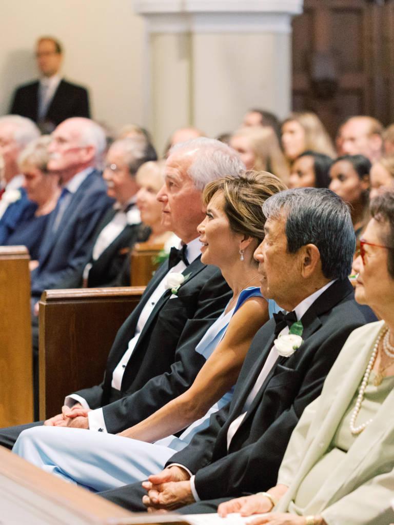 bride family in church