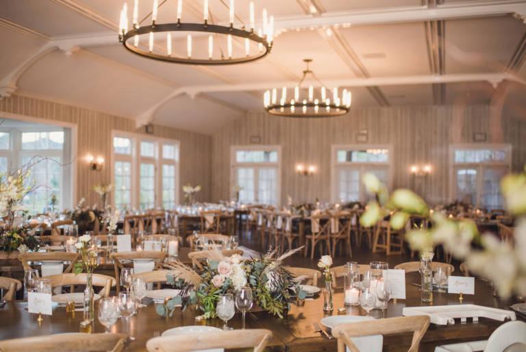 lodge at malibou lake indoor wedding reception