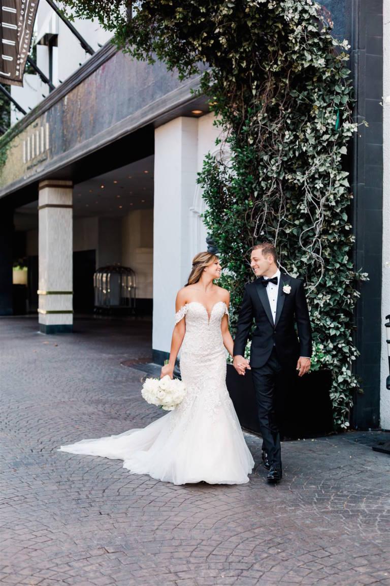 london weho wedding couple