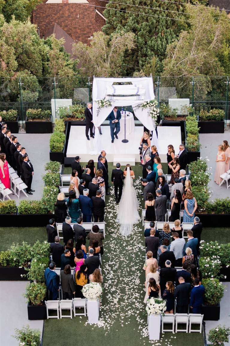 aerial bridal processional