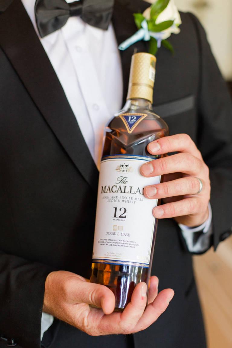 groom with scotch