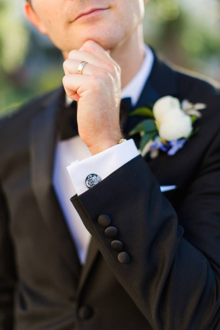 groom ring and cufflinks