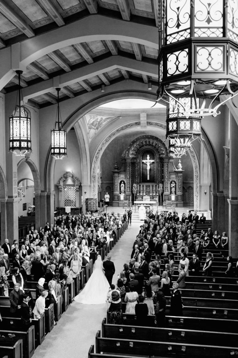 classic church wedding