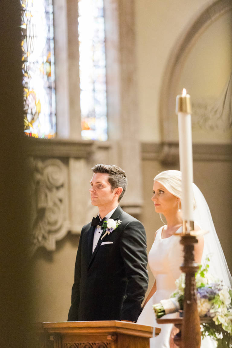 wedding couple before vows