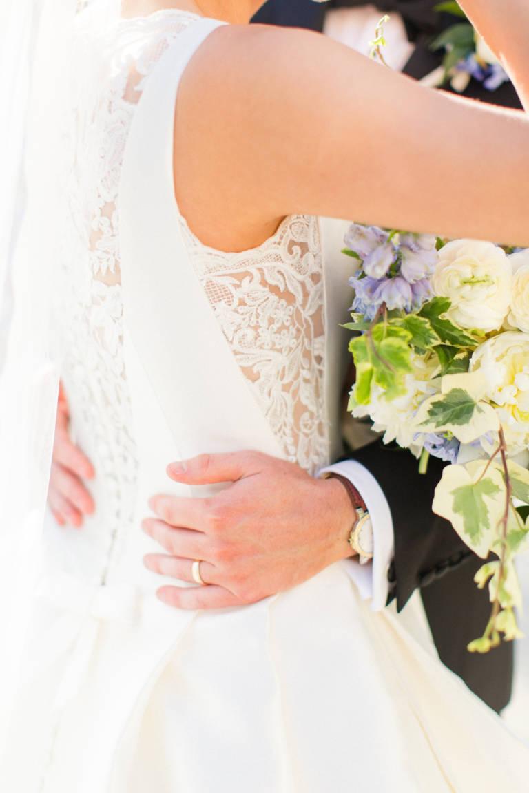 lacy bridal dress