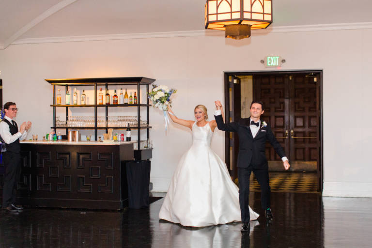 bride and groom grand entrance