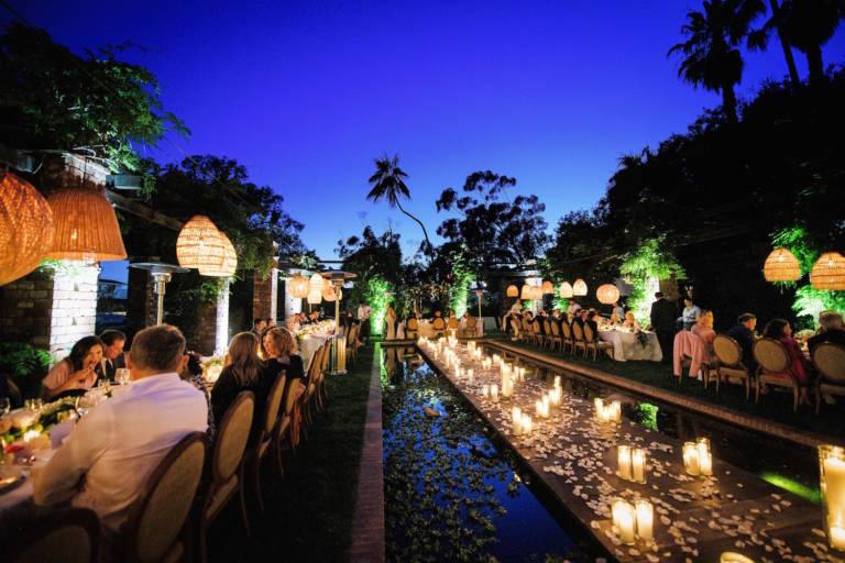 belmond el encanto outdoor evening wedding reception