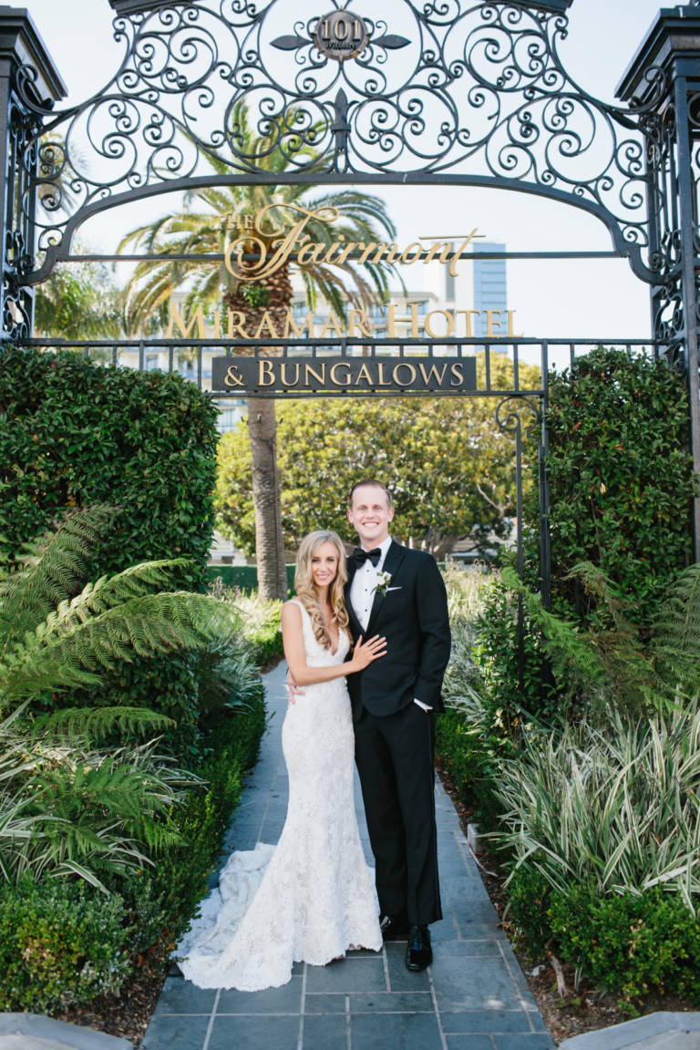 Fairmont Miramar Bride and Groom